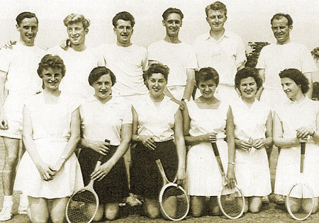 Thirsk Tennis team, 1955
